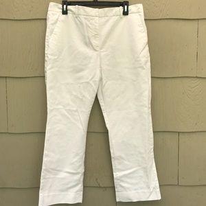 GAP | White Tailored Crop Pants | 12